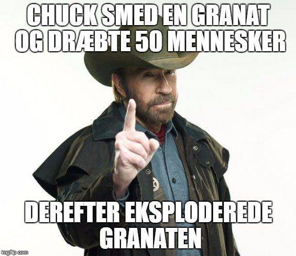Chuck Norris jokes og facts på dansk - BlackBoard