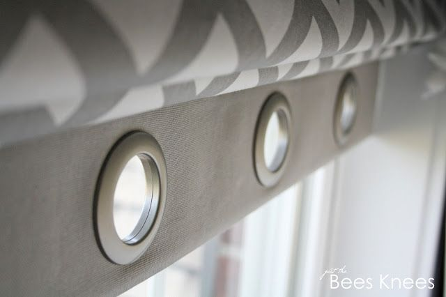 just the bee's knees: DIY Roman Blinds with Grommet Detail