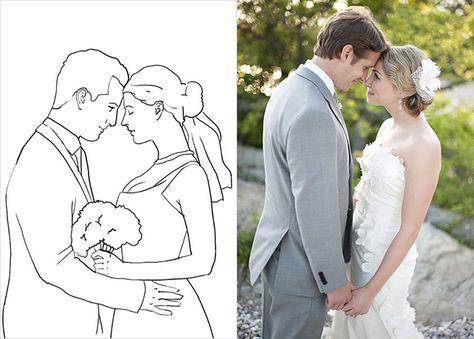 20 лучших поз для свадебной фотосессии, жених и невеста соприкасаются лбами