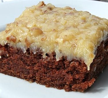 Old Fashioned German Chocolate Sheet Cake from the 1950's - Recipe, Desserts, Holidays, Kid Friendly