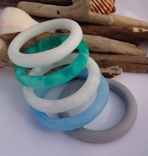 Smooth matte grey eco-resin organically shaped bangle