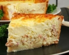 Quiche sans pâte aux lardons (facile, rapide) - Une recette CuisineAZ
