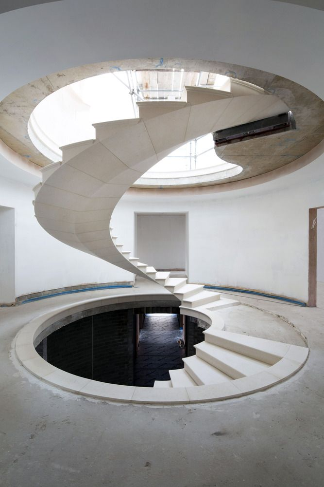 Gallery of See The Engineering Behind This Floating, Award-Winning Stone Helical Stair - 13