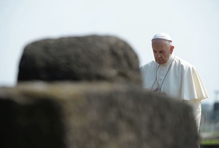 The pontiff visited the Holocaust camp to honor the dead and meet with survivors.