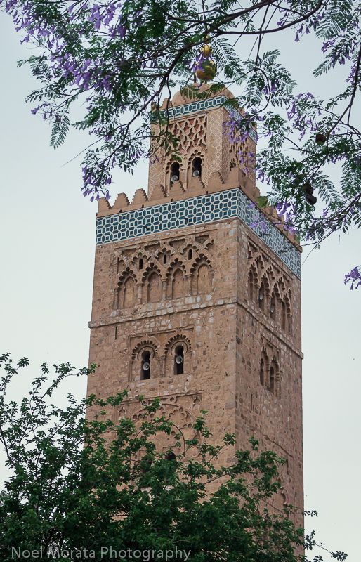 Marrakesh with the Koutoubia mosque and other popular attractions in the historic district of Marrakesh. Click on the image for more pictures and details of places to visit in beautiful Marrakesh