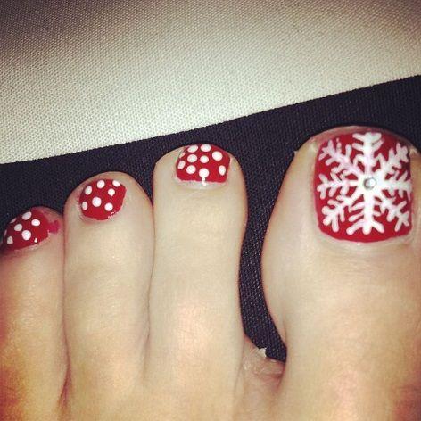 Toe nails christmas - Uñas para navidad