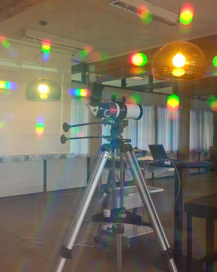 Solar telescope seen through diffractiongrating #nofilter #spectroscopy #solartelescope