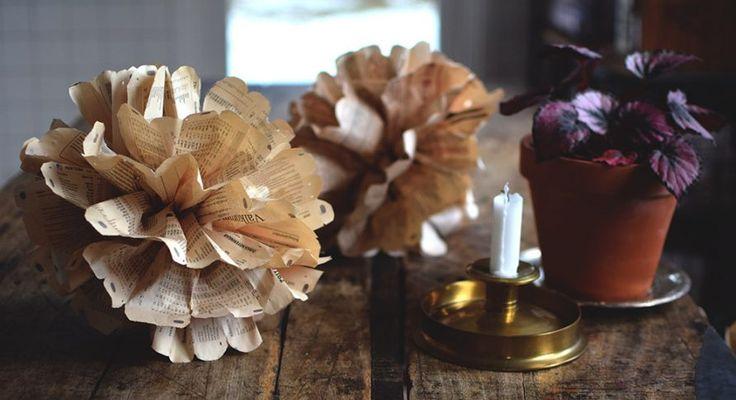 Ett roligt och enkeltpyssel är att göra, vika pom poms av silkespapper. Det blir en vacker dekoration till vardagsrum, barnrum eller till festplatsen och trädgården. Men, måste man köpa silkespapper...