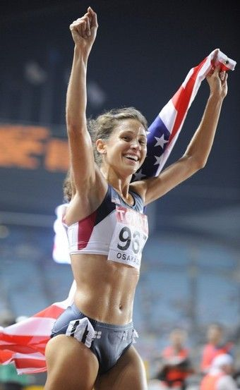 The wonderful long distance runner Kara Goucher! She will compete in London later this month for the 2012 Olympics.