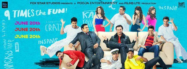 Humshakals(2014) Hindi Full Movies Watch Online Free Humshakals 2014 Indian comedy film.Directed Sajid KhanProduced by Vashu Bhagnaniand Writer FarhadMusic by Himesh ReshammiyaFilm actors and actresses in Saif Ali Khan, Riteish Deshmuk, Esha Gupta, Bipasha Basu, Ram Kapoor, Satish Shah, Tamannaah Bhatia.Distributed Pooja Entertainment India Ltd.Film Box of Play date by 20 June 2014.Movie Running time…