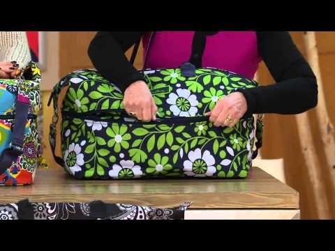 Vera Bradley Lighten Up Expandable Travel Bag with Courtney Cason - YouTube