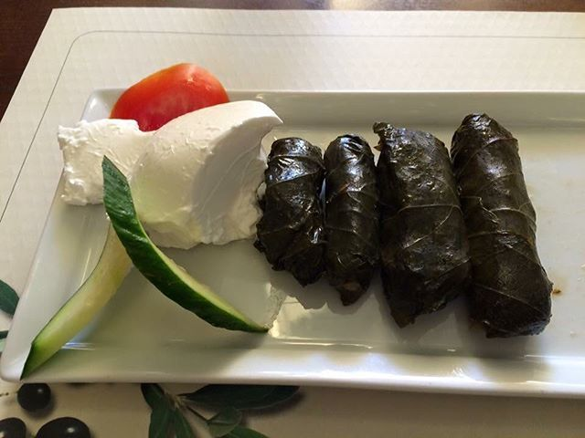 #dolmades #greekyogurt at #oldtown #rodos #food #foodporn #foodlover #foodie #foodstagram #foodgasm #greece #greek #greeceblogger #greeceholiday #greecestagram #greeklife #instatravel #instapic #instagreece #picoftheday