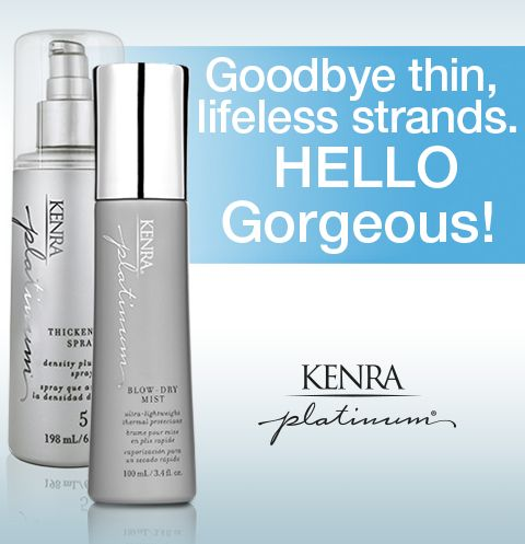 Fine/thin hair textures: Layer Kenra Platinum® Blow-Dry ...