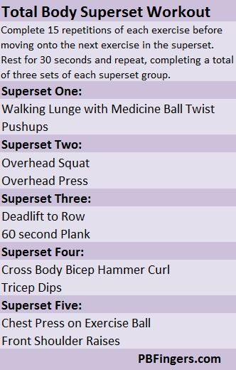 full body superset workout routines pdf