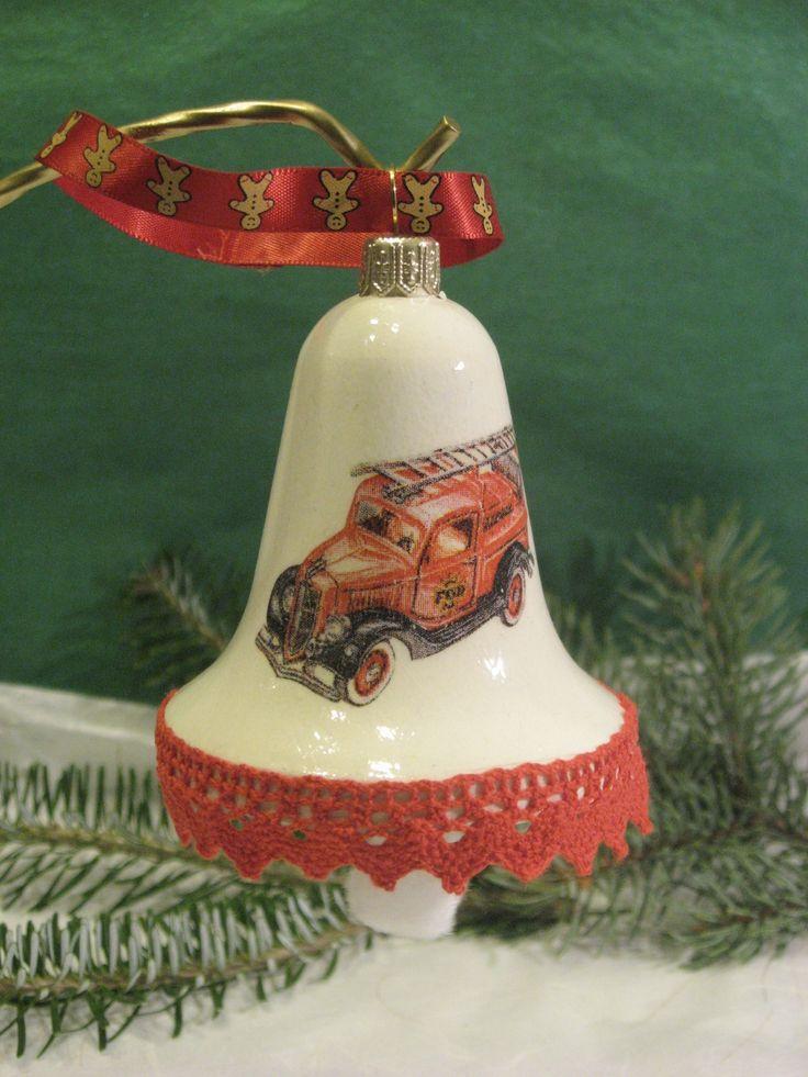 Christmas bell - fire truck