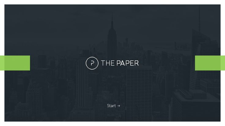 The Paper - Powerpoint Presentation Template | GraphicRiver