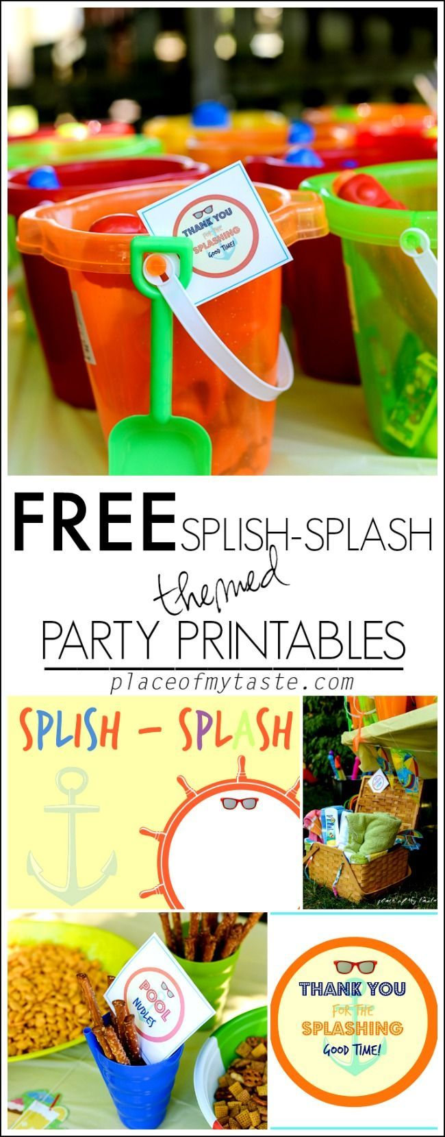SPLISH SPLASH PARTY AND FREE PRINTABLES - Place Of My Taste
