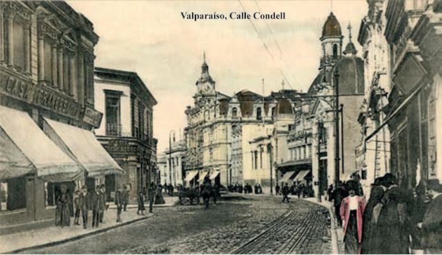 Otra vista de calle Condell    Año ??? - Valparaíso