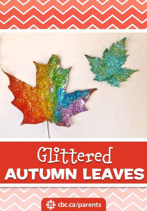 Glittered Autumn Leaves   Play