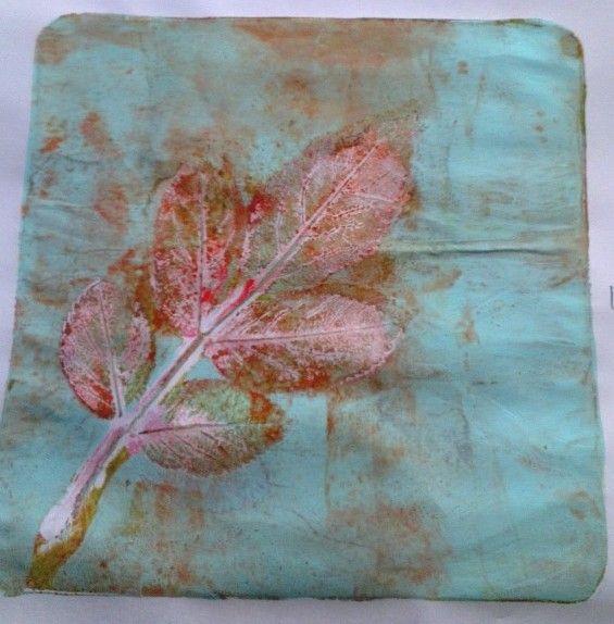 My 2nd favourite leaf print @Gelli Arts®