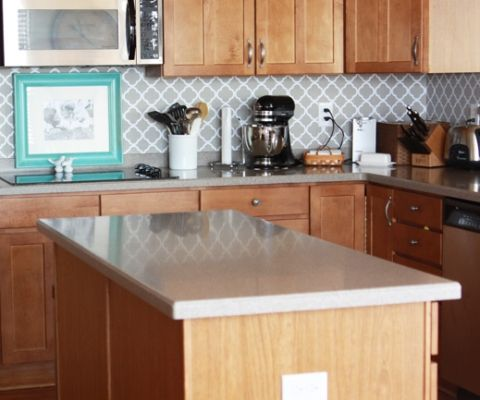 Elegant Vinyl Backsplash