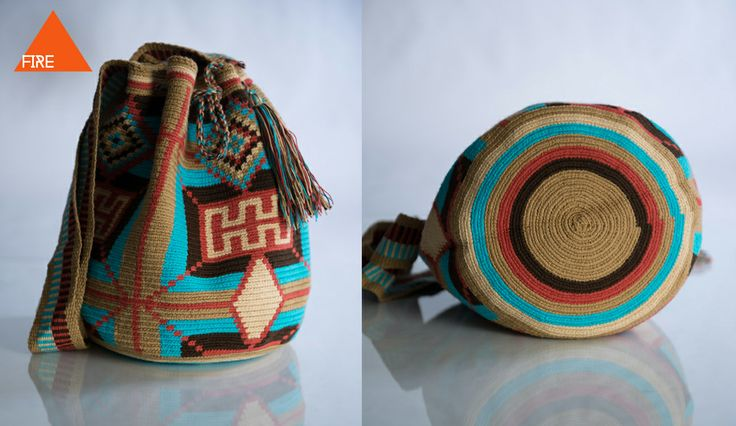 COMOCHI Bags | Handmade Bohemian Bags, $119.00 Tuikii(Fire) Boho Bags are woven by two strands of thread, taking 7-10 days to weave. Weather your out on the town or hanging by the beach this accessory is perfect for any occasion. Handmade in Colombia by the indigenous Wayuu people.  www.comochibags.com