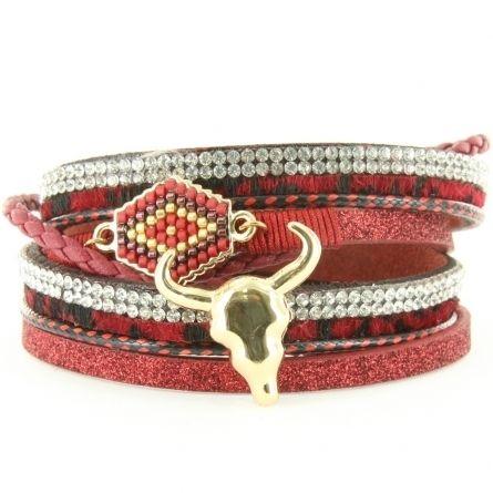 Bracelet tête de Buffle
