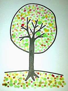 Nove Hasanah: Cara Menggambar Pohon Cantik dengan Cotton Bud dan...