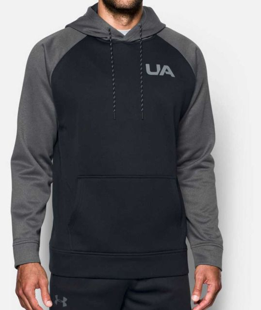 3bd9b8a76a2d Men s Under Armour UA Storm Armour Fleece Colorblock Hoodie Size XL Black Gray   fashion  clothing  shoes  accessories  mensclothing  activewear (ebay link)