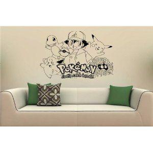 pokemon wall vinyl sticker mural for kids rooms