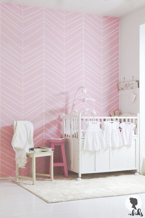 Large Herringbone Wallpaper / Traditional or removable wallpaper L009