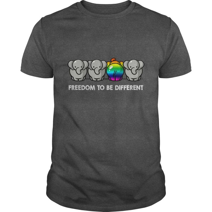 FREEDOM TO BE DIFFERENT. Cute, Clever, Funny, Gay, Lesbian, LGBTQ, Gay Pride Week, Pride Colors, Flag, Rainbow, Quotes, Sayings, T-Shirts, Hoodies, Tees, Clothes For Women and Men, Gifts.