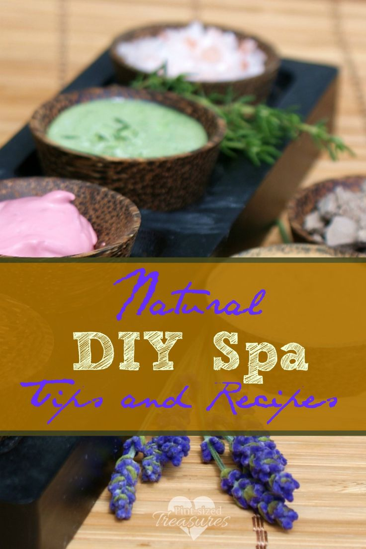 DIY SPA TREATMENTS, RECIPES AND TIPS  Every mom needs some pampering once in a while. Sometimes we can't afford a trip to the spa or take time away to even get to a spa. Enjoy these spa recipes and tips to help you enjoy some pampering in your very own home. I can smell the rose petals now! #diy #spa