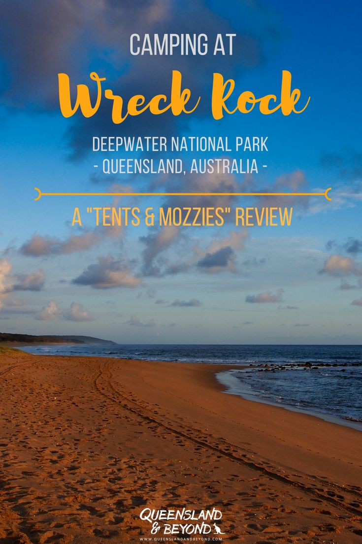 """Deepwater National Park is a lovely spot on the Discovery Coast in Queensland if you want to do a bit of 4WD exploring. The Wreck Rock camping area in Deepwater is small and doesn't get too crowded even when it's full. Here's what to expect when camping at Wreck Rock. A """"tents & mozzies"""" review. 🌐 Queensland & Beyond #camping #review #nationalpark #queensland #deepwater"""