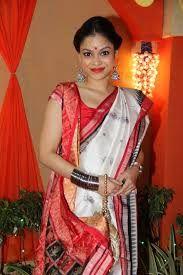 #Sumona #Chakravarti known as #Natasha from serial #Bade ache lagtey hai in #Bengali #sari #saree