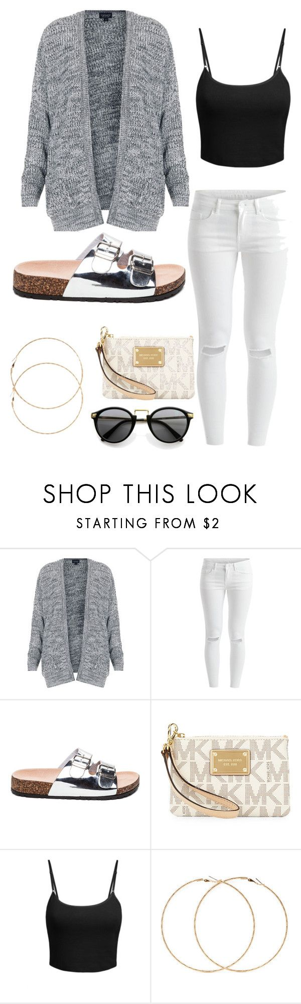 """""""Untitled #90"""" by camerondash86 on Polyvore featuring Topshop, VILA, MICHAEL Michael Kors, LE3NO, Forever 21, women's clothing, women, female, woman and misses"""