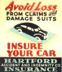 Matchbook  Hartford Insurance Auto Ad  | Car photo