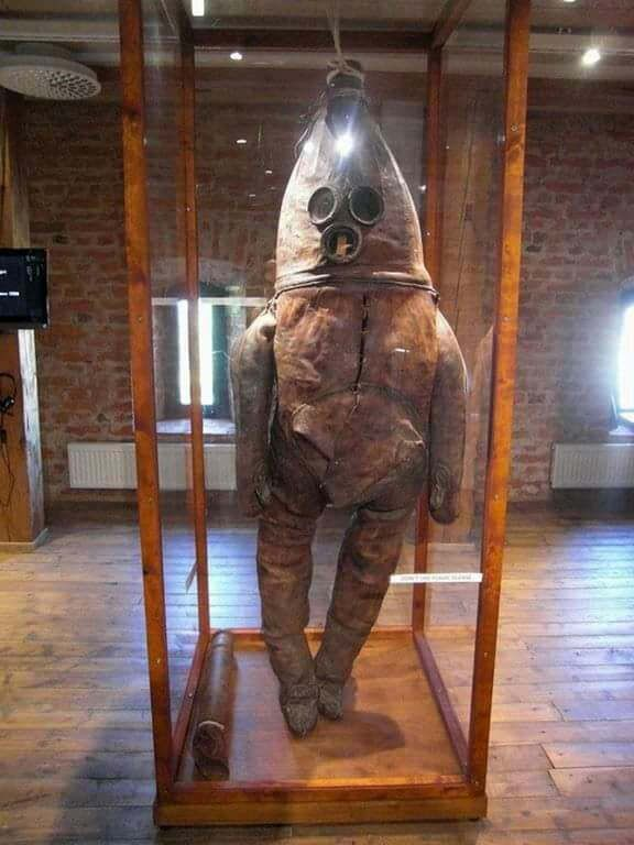 One of the oldest diving suits in existence, the old gentleman of Raahe dates back to the 1700's