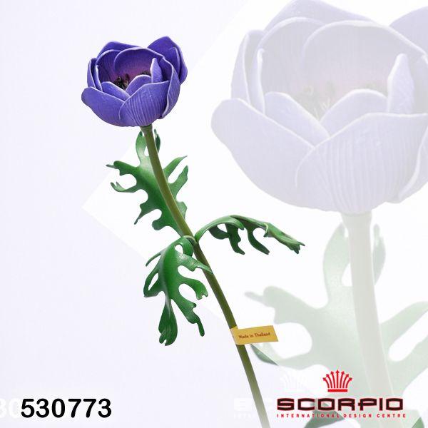 """искусственный цветок """"анемон"""", белый - Цветы искусственные - SCORPIO - Магазин подарков, декора, иллюминации"""