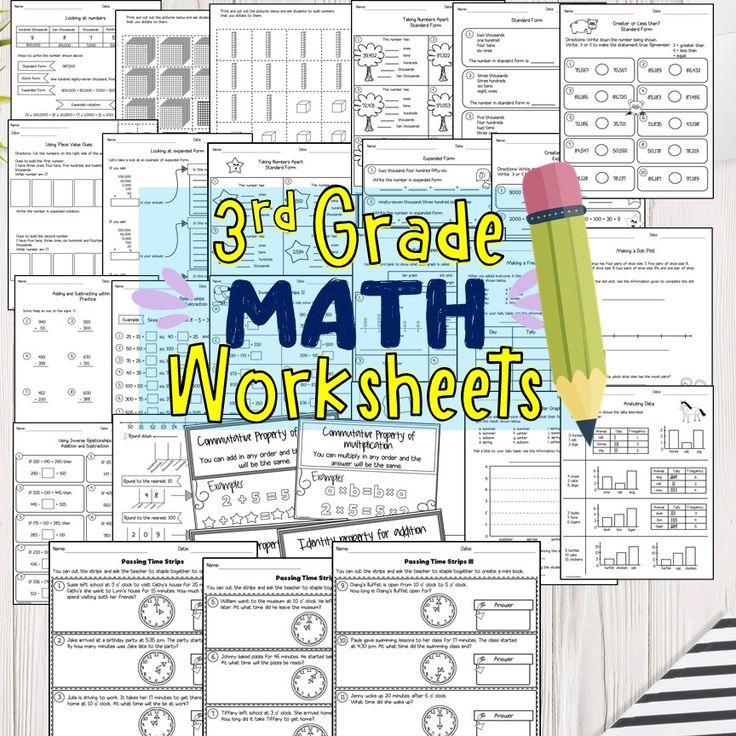 3rd grade math worksheets pdf 3rd grade math math