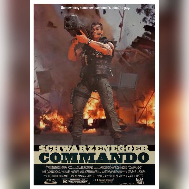 COMMANDO Toy Movie Poster by Pacific Shatterdome. IG: pacific_shatterdome.