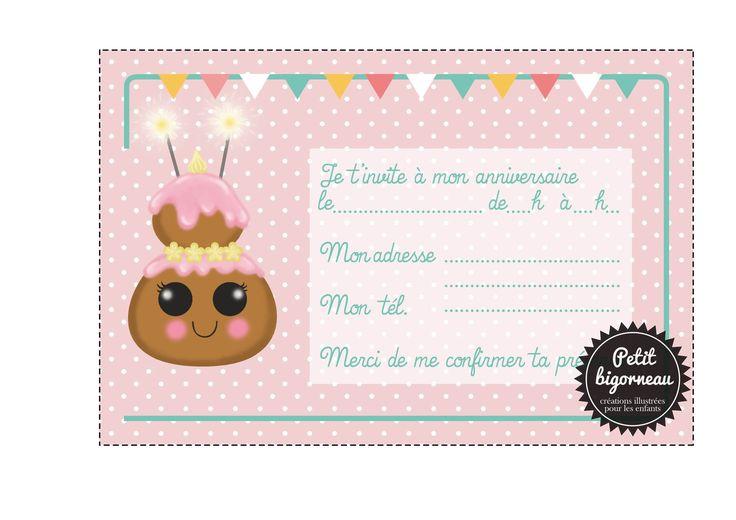 Carte D'anniversaire À Imprimer Pour Fille De 12 Ans Unique I… | Invitation anniversaire ...