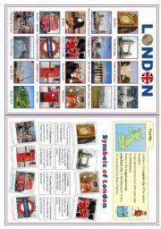 English worksheet: LONDON - Colour and BW version