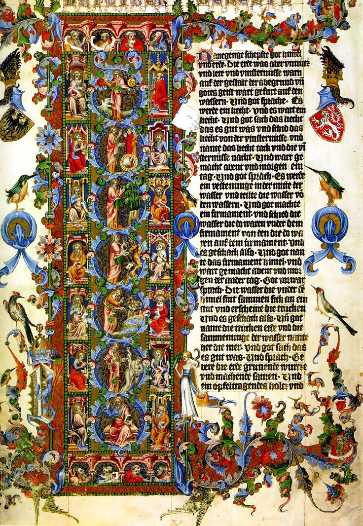 The Letter L Genesis Wenceslas Bible 1389 Wenceslaus IV Of