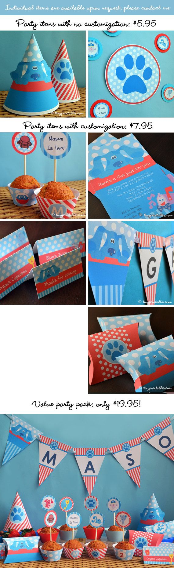 Blues Clues Birthday Party Printables With by Tinyprintables, $19.95