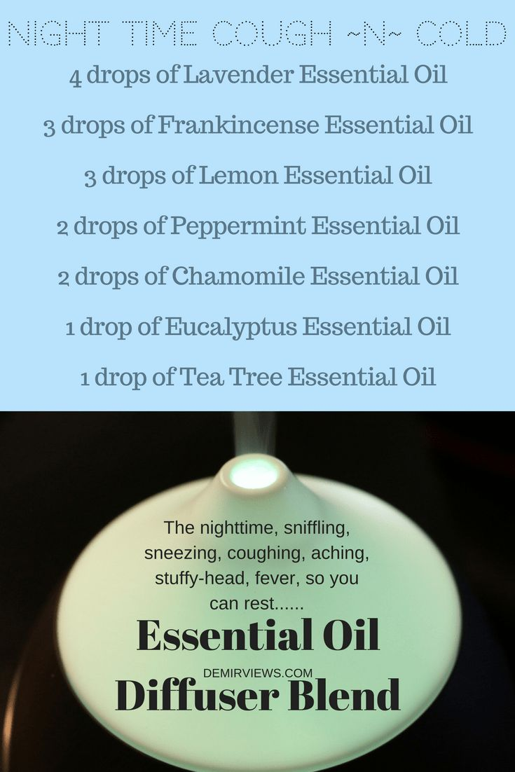 Feeling a cough or cold coming on check out my handy cough and cold essential oils diffuser blends list. The nighttime one hasn't failed me
