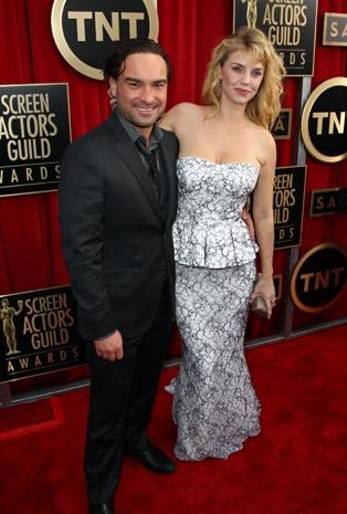 Johnny Galecki, left, and Kelli Garner -SAG Awards 2013: Red carpet