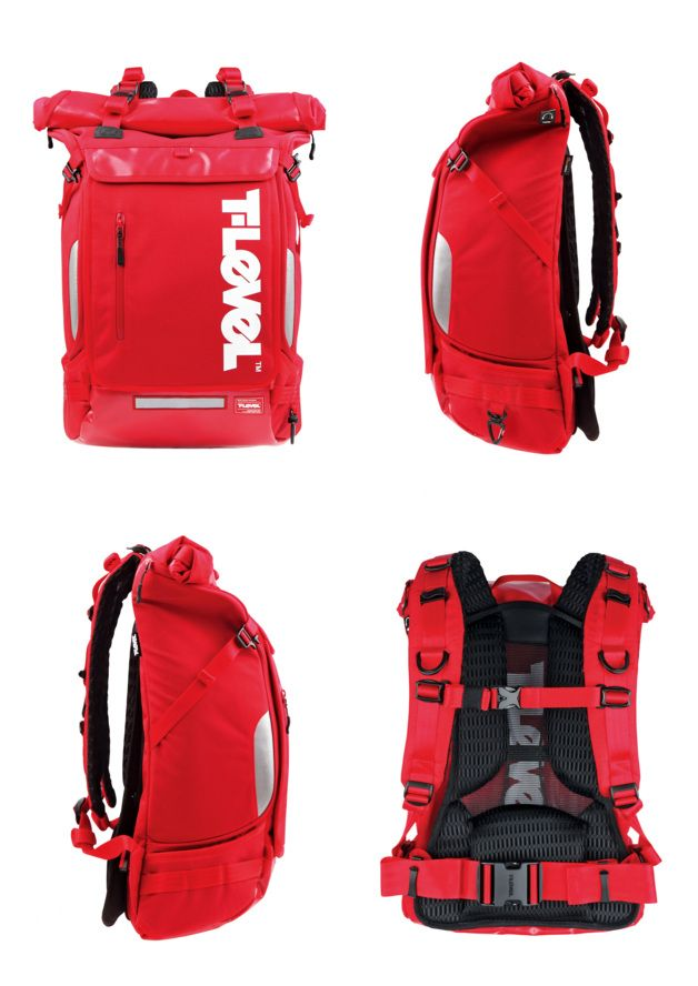 T-Level Infinity Roll-top 43L  Backpack  Manufacturer Wherehouse, South Korea www.t-level.com In-house design Taehoon Choi, South Korea www.t-level.com