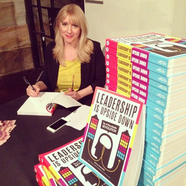 Leadership is Upside Down Book Launch. Author Silvia Damiano. www.leadershipupsidedown.com