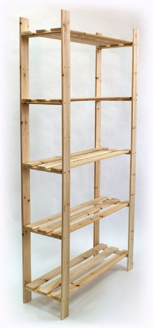 Dirt cheap shelving - Make it your shelf - all you need is one size of wood which you cut to length and a box of heavy duty screws